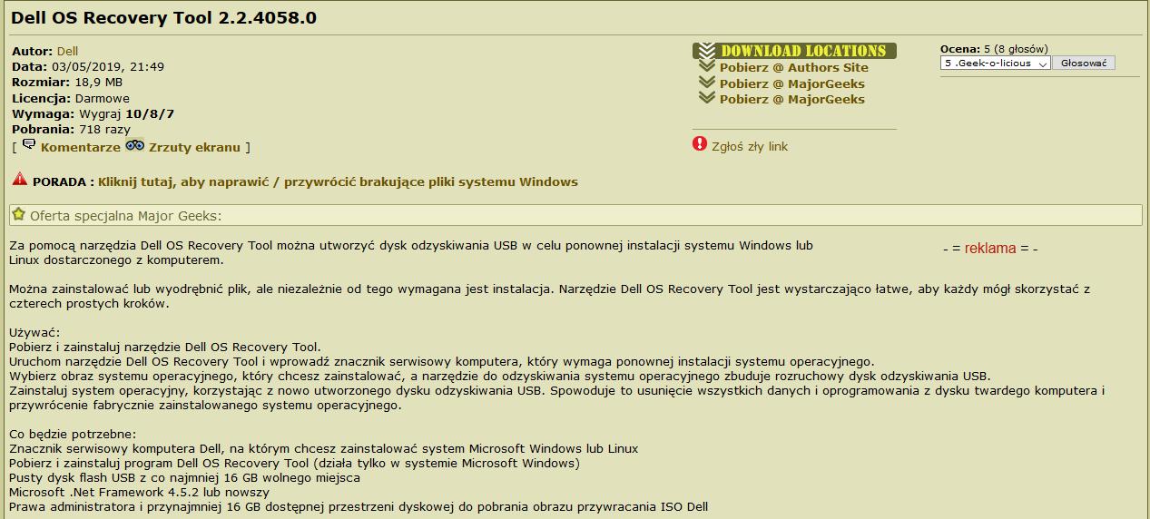 Laptop dell, czy można nagrać system na dvd - Na luzie