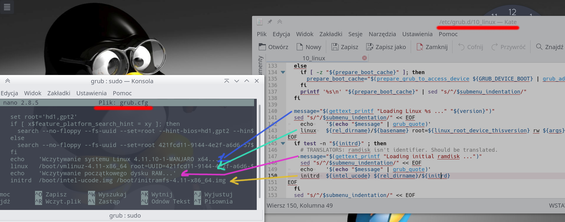 Manjaro i Opensuse na jednym dysku - GNU/Linux