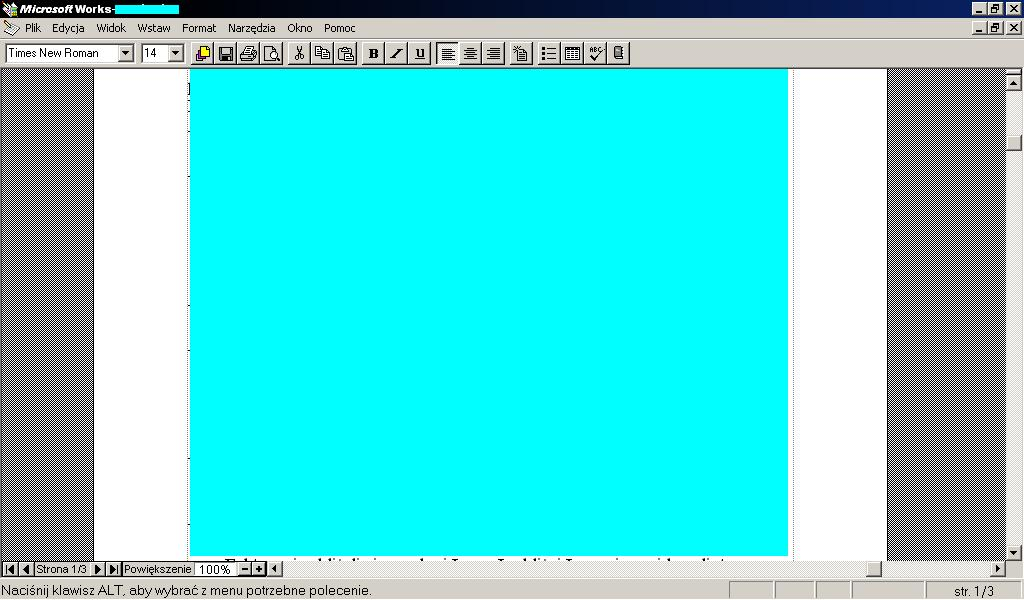 Edytor tekstu pod XP na małym ekranie - Poszukiwanie
